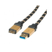 Roline GOLD USB3.0 kabel TIP A(M) - Micro B(M), 2.0m