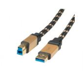 Roline GOLD USB3.0 kabel TIP A/B M/M, 3.0m