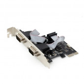 Gembird 2 serial port PCI-Express add-on card, with extra low-profile bracket