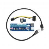 Gembird PCI-Express riser add-on card, PCI-ex 6-pin power connector