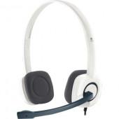 Logitech H150, slušalice s mikrofonom, bijele