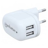 PopCharge Home, Europlug C5 USB Wall Charger with Two Ports
