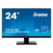 "IIYAMA Monitor Prolite, 24"" ULTRA SLIM LINE, 1920x1080, IPS-panel, 4ms, 250 cd/m2, Speakers, VGA, HD"
