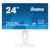 "IIYAMA Monitor Prolite, 24"" WHITE, ETE ULTRA SLIM LINE , 1920x1080, ETE IPS-panel, 13cm Height Adj."