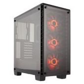 Corsair Crystal Series 460X RGB Compact ATX Mid-Tower Case, SP120 RGB LED fans