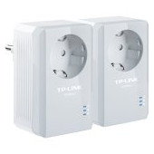 AV500 Powerline  Adapter with AC Pass Through Starter Kit, 500Mbps Powerline Datarate, 1 Fast Ethern