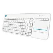 LOGITECH Wireless Touch Keyboard K400 Plus - White - Croatian layout