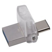 Kingston USB 128GB DT microDuo 3C, USB 3.0/3.1 + Type-C flash drive, EAN: 740617262551