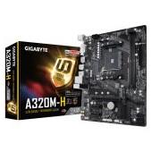 GIGABYTE A320M-H, AM4, AMD A320, 2xDDR4, Max:2667MHz, Max:32GB, 1xPCIE16 3.0, 2xPCIE1, 4xSATA3, 2xUS