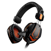 CANYON Gaming headset 3.5mm jack with microphone and volume control, cable 2M, Black
