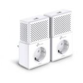 TP-Link AV1000 Powerline Gigabit mrežni adapter, 1000Mbps, dodatna strujna utičnica, HomePlug AV2 (duplo pakiranje)