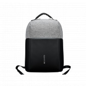 "Backpack for 15.6"" laptop, material 900D glued polyester and 600D polyester, black, USB cable length"