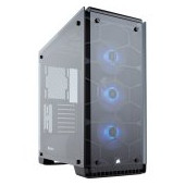 Corsair Crystal Series 570X RGB, Tempered Glass, Premium ATX Mid-Tower, SP120 RGB LED fans with LED