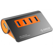 Orico 4-portni USB 3.1 Hub, dark gray+orange (ORICO M3H4-G2)