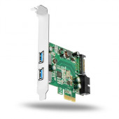 AXAGON PCEU-232V PCIe Adapter 2+2x USB3.0 UASP VIA + LP limić