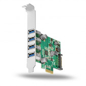 AXAGON PCEU-43V PCIe Adapter 4x USB3.0 + LP limić