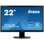 "IIYAMA 22"" ProLite E2282HS-B1 (21.5"") 16:9 Full HD (1920×1080) LED, 1ms, VGA/DVI/HDMI, HDCP, zvučnici, crni"