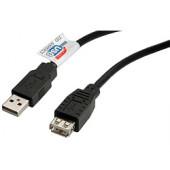 USB2.0 kabel TIP A-A M/F, 3.0m, bež (produžni)