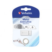 Verbatim USB2.0 Store'n'Go Metal Executive 64GB, srebrni