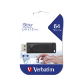 Verbatim USB2.0 Store'n'Go Slider 64GB, crni