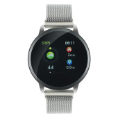 Smart watch, 1.22inch colorful LCD, 2 straps, metal strap and silicon strap, metal case, IP68 waterp